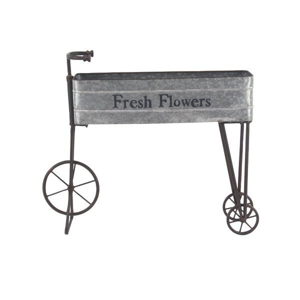 Osterley Bicycle Metal Planter Box by Gracie Oaks