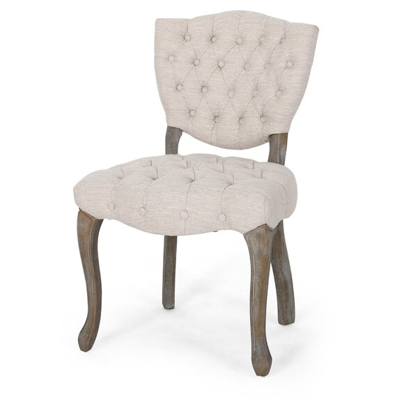 #1 Marielle Tufted Upholstered Dining Chair (Set Of 2) By One Allium Way Comparison