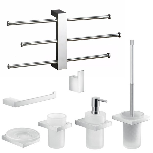 Lanzarote 7 Piece Bathroom Hardware Set by Gedy by Nameeks