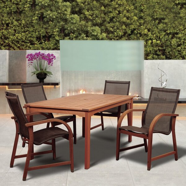 Grice International Home Outdoor 5 Piece Dining Set by Ebern Designs