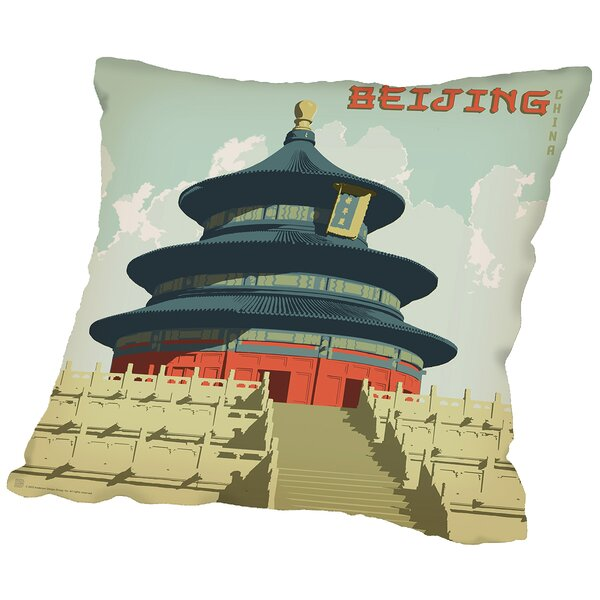 Beijing Throw Pillow by East Urban Home