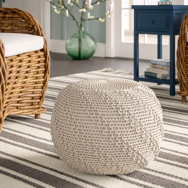 Knitted Pouf By Breakwater Bay Design