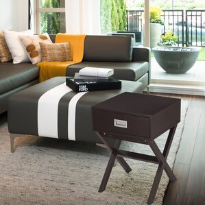 Modern End Table by Adeco Trading