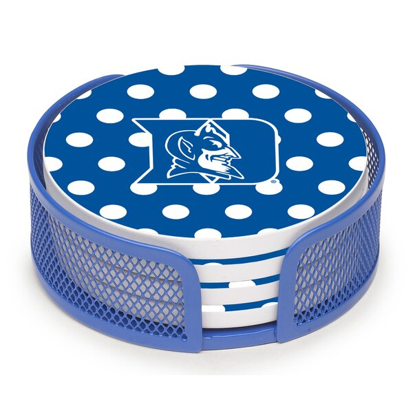 5 Piece Duke University Dots Collegiate Coaster Gift Set by Thirstystone