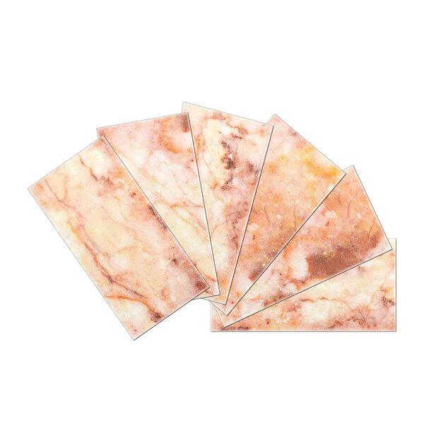 Crystal Skin 3 x 6 Glass Subway Tile in Pink/Brown by SkinnyTile