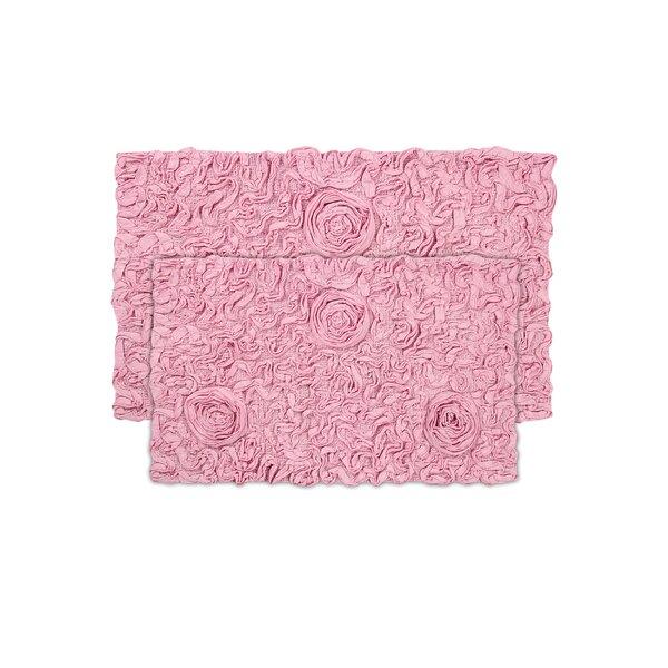 Loganne Rectangle 100% Cotton Non-Slip piece Bath Rug Set