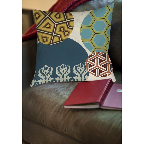 Paper Lanterns 2 Printed Throw Pillow by Manual Woodworkers & Weavers