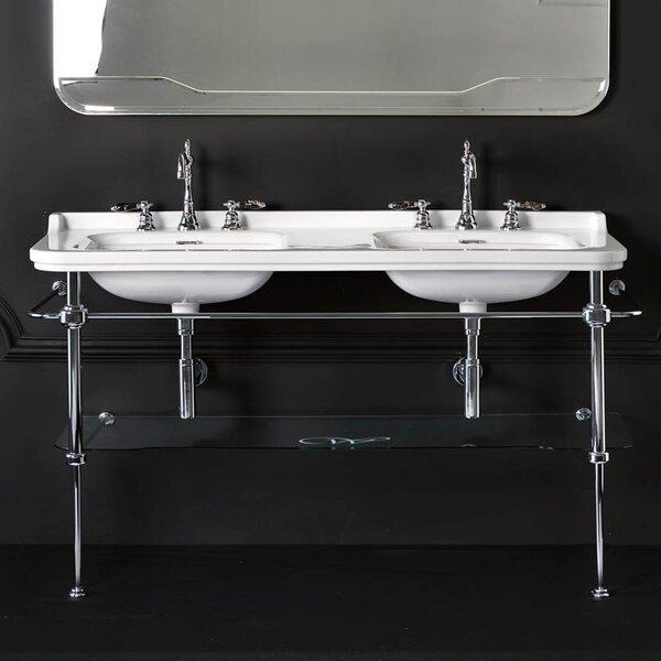 Waldorf Ceramic 60 Console Bathroom Sink with Overflow