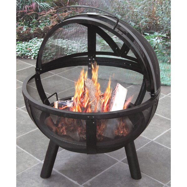 Ball of Fire Steel Wood Burning Fire Pit by Landmann