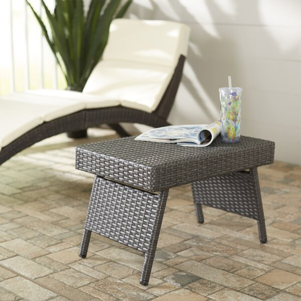 Rebello Folding Wicker Side Table by Sol 72 Outdoor