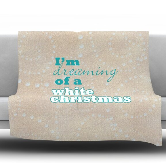 White Christmas Fleece Throw Blanket by East Urban Home