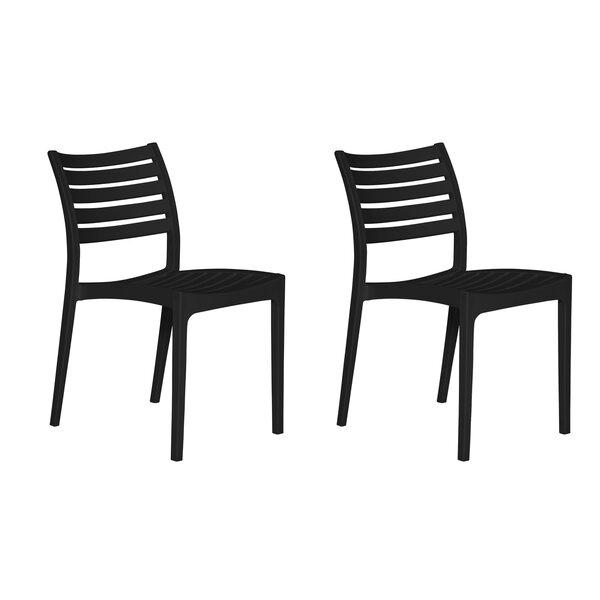 Kamari Stacking Patio Dining Chair (Set of 2) by Brayden Studio Brayden Studio
