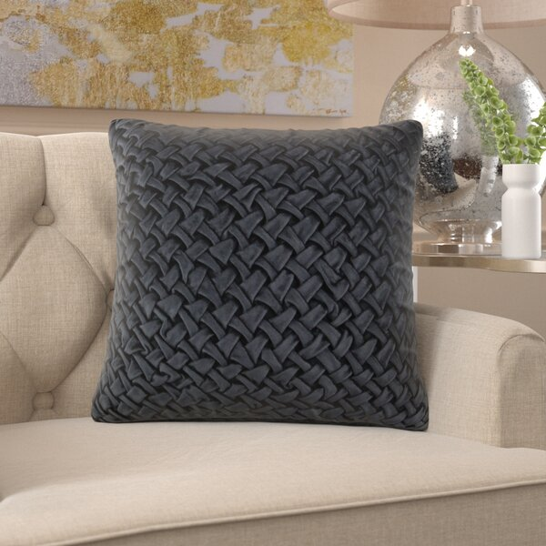 Acuff Modern Smocking Throw Pillow by Mercer41