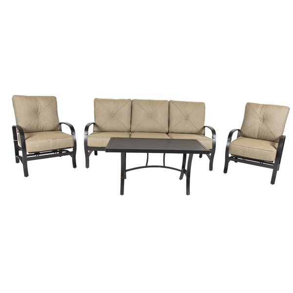 Gadd 4 Piece Seating Group with Cushions by Red Barrel Studio