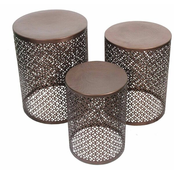 Otis Copper 3 Piece Accent Stool Set by Bloomsbury Market