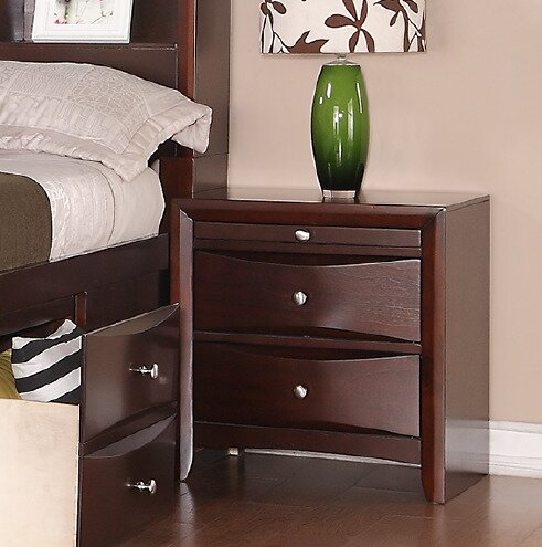 Baxter 2 Drawer Nightstand by Ebern Designs