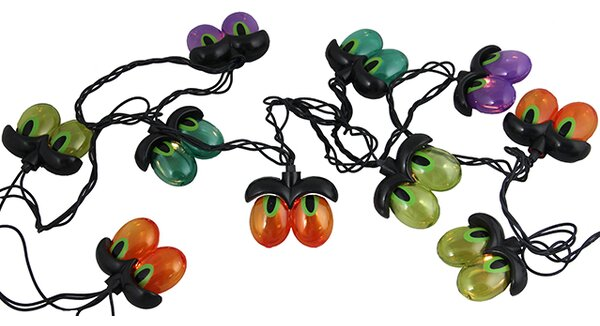 10 Light Spooky Eyeball Halloween Light String by Sienna Lighting