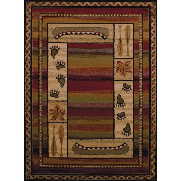 Affinity Canoe Sunset Lodge Brown Area Rug by United Weavers of America