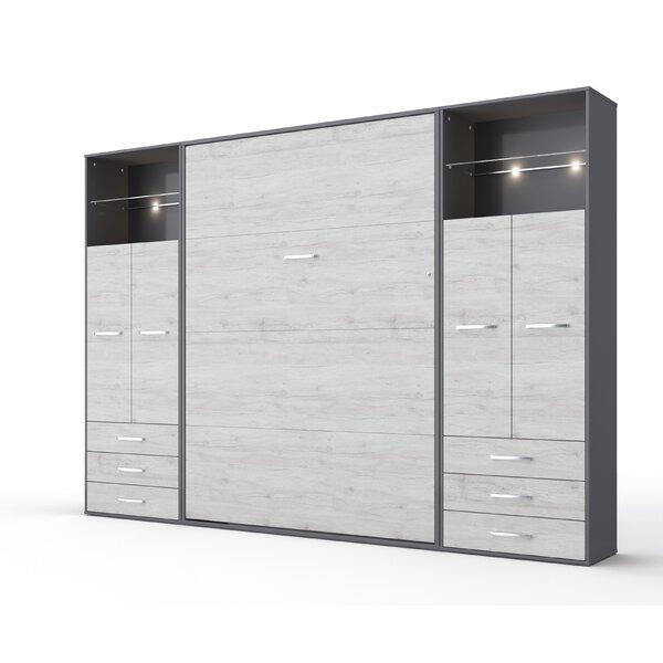 Rao Vertical Full Storage Murphy Bed with Mattress by Orren Ellis Orren Ellis