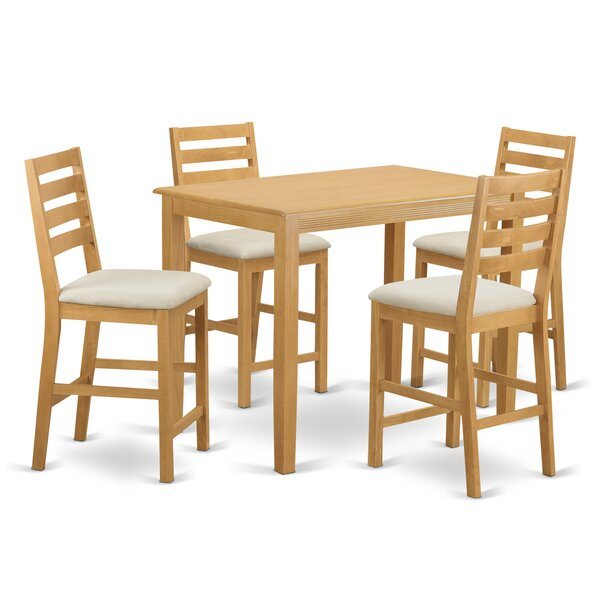 New Yarmouth 5 Piece Counter Height Pub Table Set By Wooden Importers Today Only Sale
