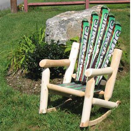 Snow Wood Rocking Adirondack Chair by Ski Chair