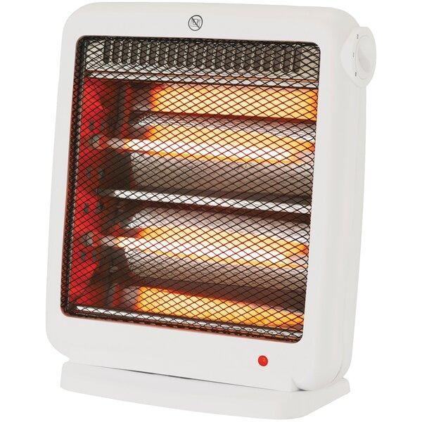 Quartz Radiant 800 Watt Electric Fan Compact Heater by Brentwood Appliances