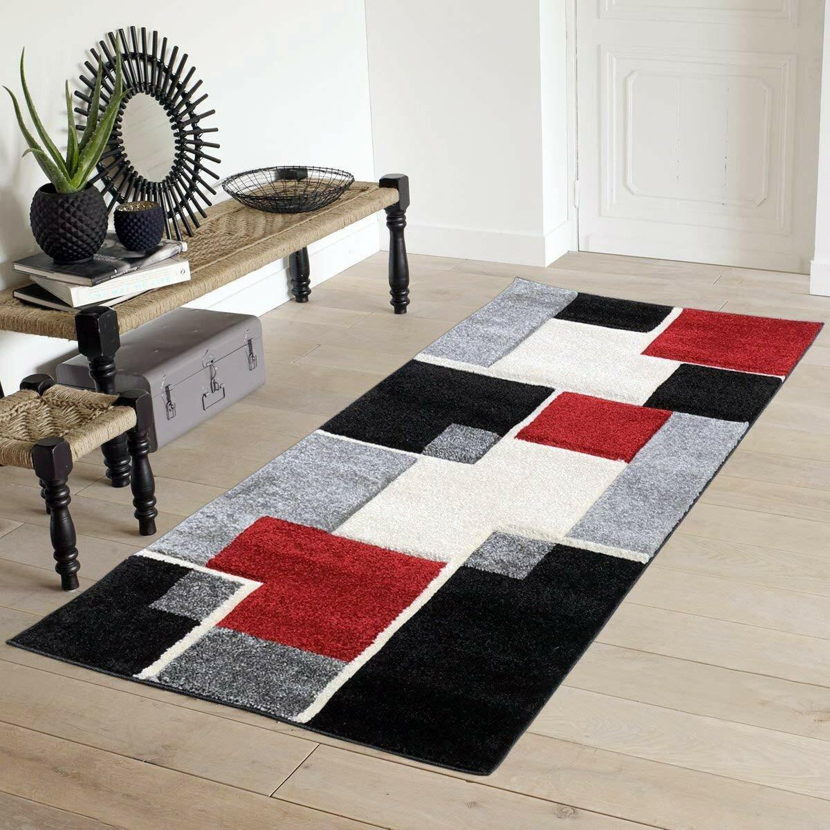 Ebern Designs Hutchens Black Gray Red