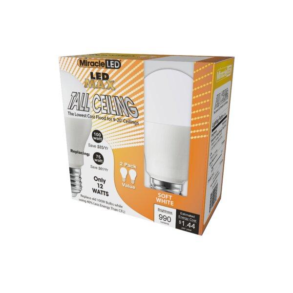 12W E26/Medium (Standard) LED Light Bulb (Set of 2) by Miracle LED