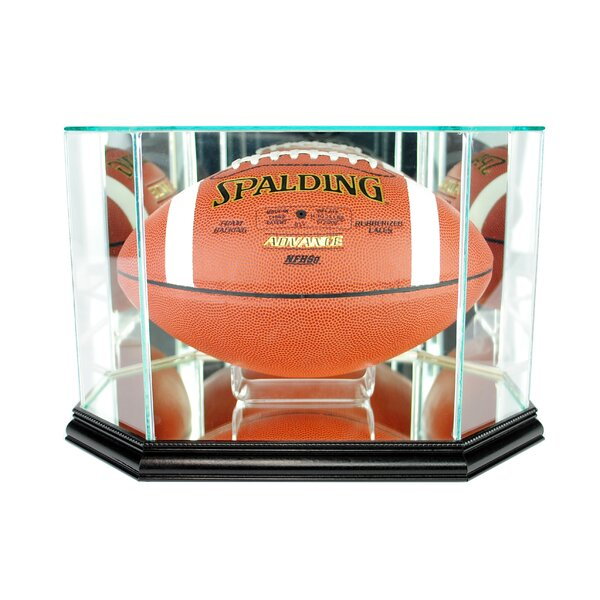 Octagon Football Display Case by Perfect Cases and Frames