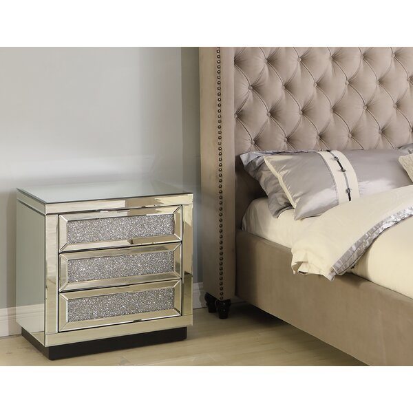 Romolo 3 Drawer Nightstand by Rosdorf Park