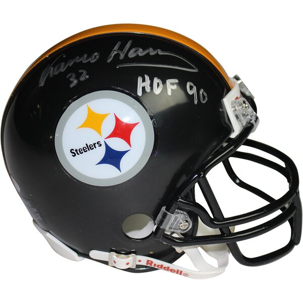 Pittsburgh Steelers Franco Harris Signed Mini Helmet by Steiner Sports