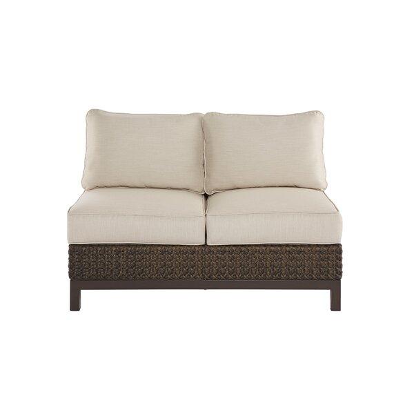 Asphodèle Wicker Patio Loveseat with Cushions by Gracie Oaks