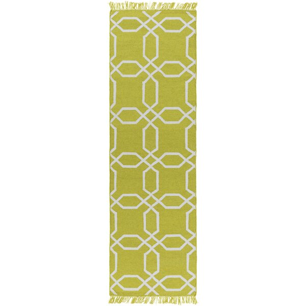 Larksville Hand-Woven Green Outdoor Area Rug by Charlton Home