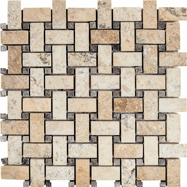 Philadelphia Basketweave Stone Mosaic Tile by Parvatile