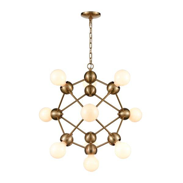 Sitton 10 - Light Unique Geometric Chandelier By Mercer41