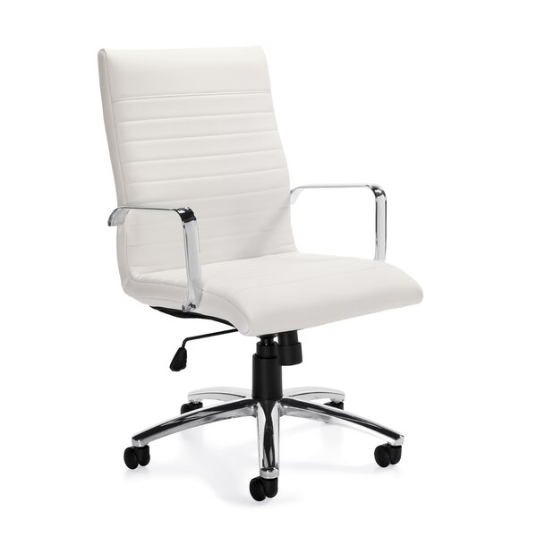 Luxhide Mid-Back Leather Desk Chair by Offices To Go