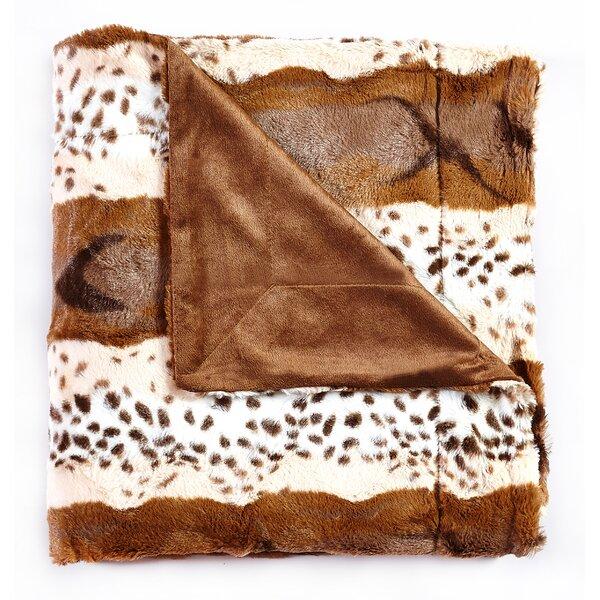 Marlborough Animal Print Design Reversible Faux Fur Blanket by Loon Peak