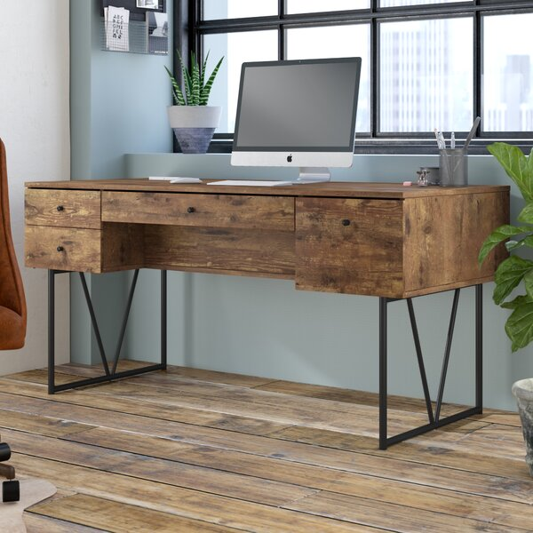 Granite 4 Drawers Writing Desk by Trent Austin Design