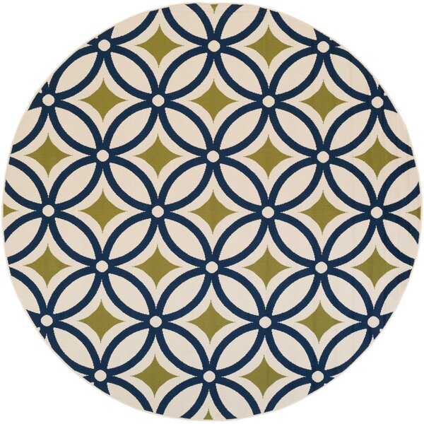 Cowell Navy Indoor/Outdoor Area Rug by Wade Logan