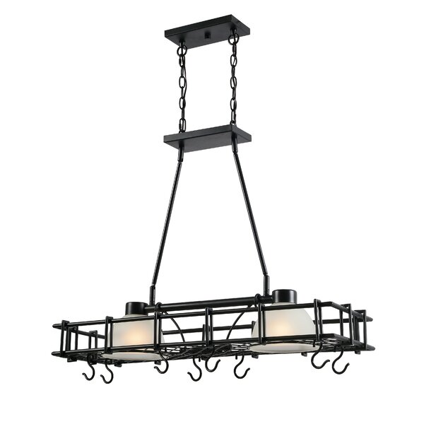 2-Light Chandelier Pot Rack by Rosdorf Park