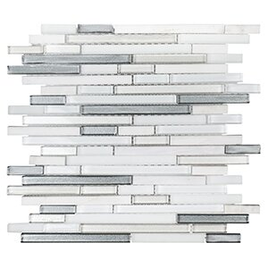 Winter Solstice 11.63 x 11.75 Still Water Mosaic Tile in White/Gray by Kellani