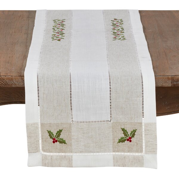 Geoffrey Holly Table Runner by The Holiday Aisle
