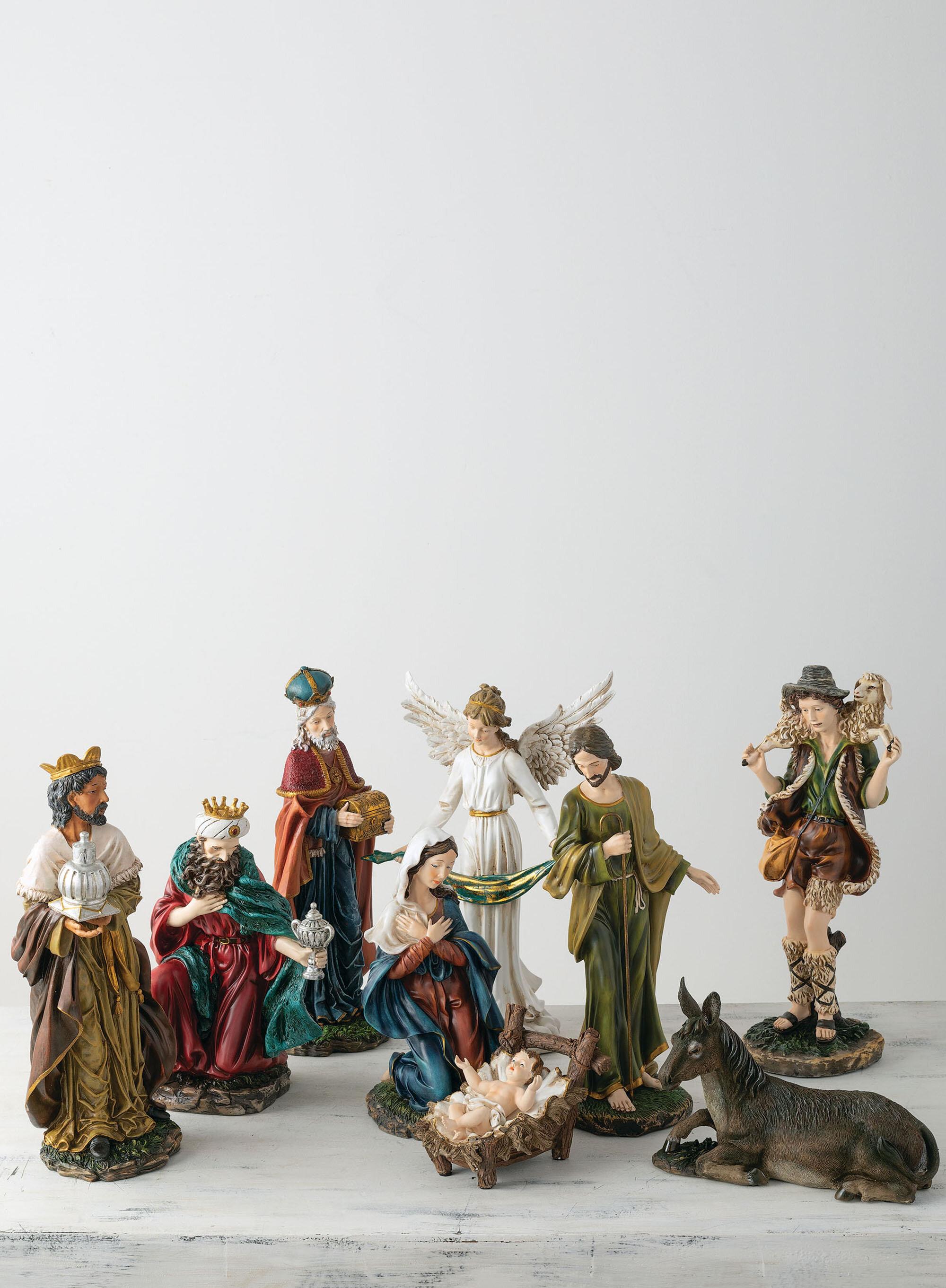 The Holiday Aisle 9 Piece Nativity Set Wayfair