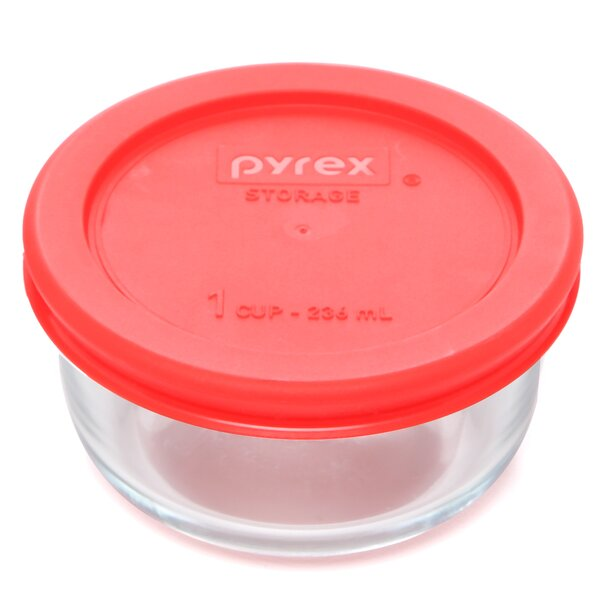 Round 8 Oz. Food Storage Container (Set of 6) by Pyrex