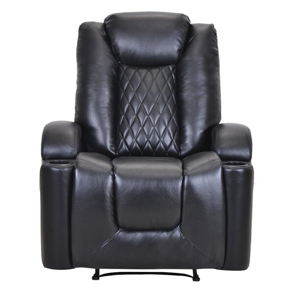 Onesimos Faux Leather Power Recliner W003411792