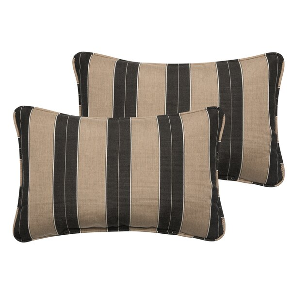 Crestwood Outdoor Sunbrella Lumbar Pillow (Set of 2) by Laurel Foundry Modern Farmhouse