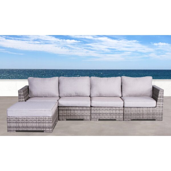 Letona Patio Sectional with Cushions by Sol 72 Outdoor Sol 72 Outdoor