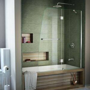 Aqua 48 x 58 Hinged Frameless Tub Door DreamLine
