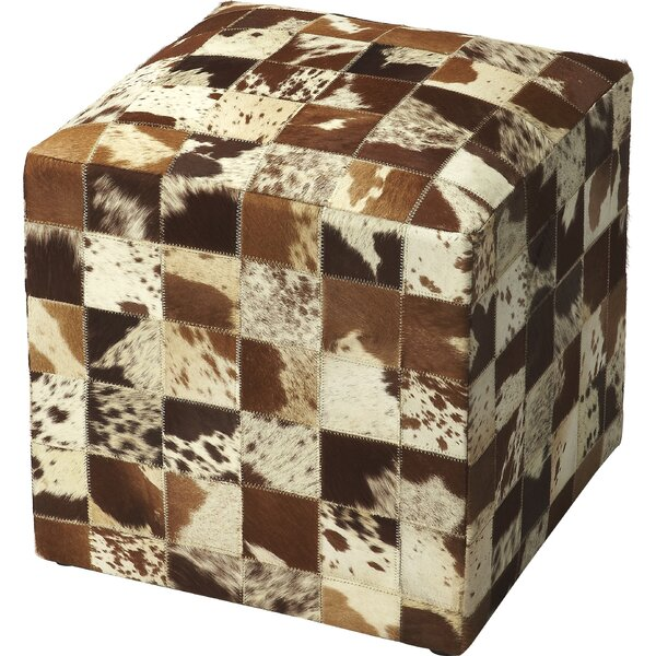 Tilford Cube Ottoman by Millwood Pines