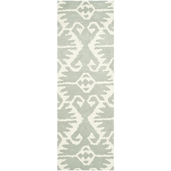 Kouerga Gray/Ivory Area Rug by Bungalow Rose